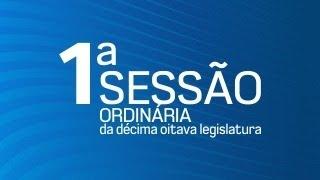 01ª Sessão Ordinária da Décima Oitava Legislatura