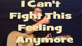 I Can't Fight This Feeling Anymore (REO Speedwagon) Easy Guitar Lesson How to Play Tutorial Capo 2nd