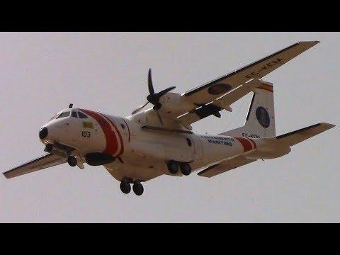 Spain Coast Guard CASA CN-235 (EC-KEM) Taxi+Take off+Landing at Las Palmas Airport!