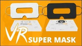 Masque jetable hygiénique de protection casque VR, Noir & Blanc, Universel - SuperMask