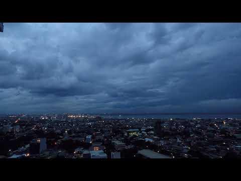 Cebu City rain and lightning time-lapse