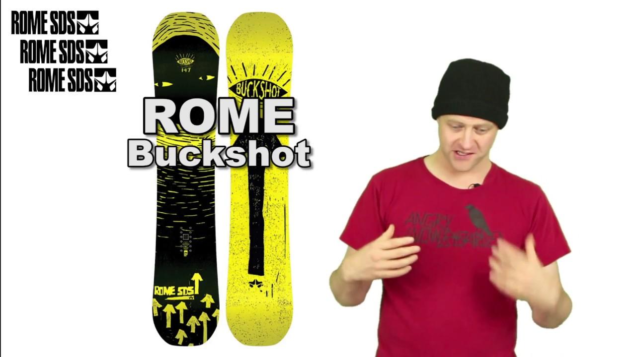 The Rome Buckshot Snowboard Review - YouTube