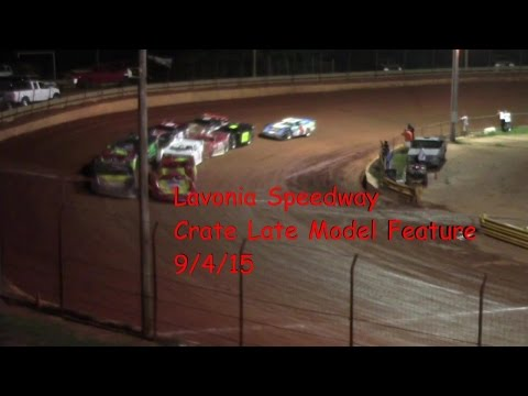 Lavonia Speedway Fastrak Crate Pro Late Models 9/4/15