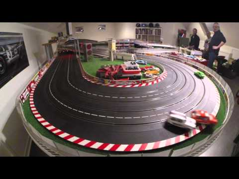 Course Golf 1/24 Slot Racing circuit Carrera 4 voies