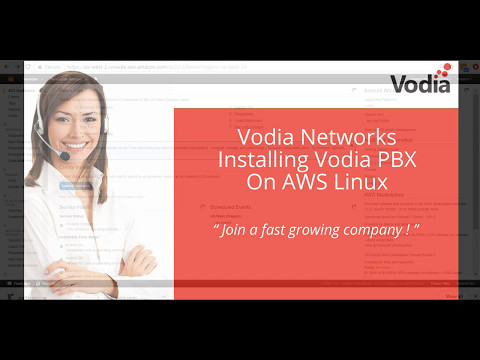 Vodia PBX hosted edition Linux on AWS