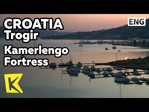 【K】Croatia Travel-Trogir[크로아티아 여행-트로기르]카메렝고 요새에서 보는 일몰/Kamerlengo Fortress/Sunset/Sea/Landscape