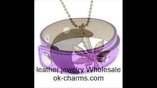 Leather Jewelry Bracelets Necklace Wholesale - OK CHARMS Thumbnail