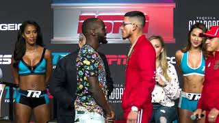 TENSE! Crawford vs Benavidez Press Conference and Faceoff EsNews Boxing