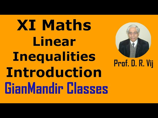 XI Maths | Linear Inequalities | Introduction by Divya Ma'am