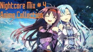 [Nightcore Mix] - #4 ☆ Anime Collection ☆ (1 Hour)