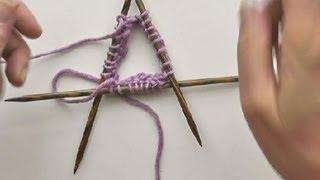 Repeat youtube video Socken Stricken #05 * Maschenanschlag mit Nadelspiel 3+1 stricken