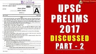 UPSC 2017 Prelims - Discussed - Part 2