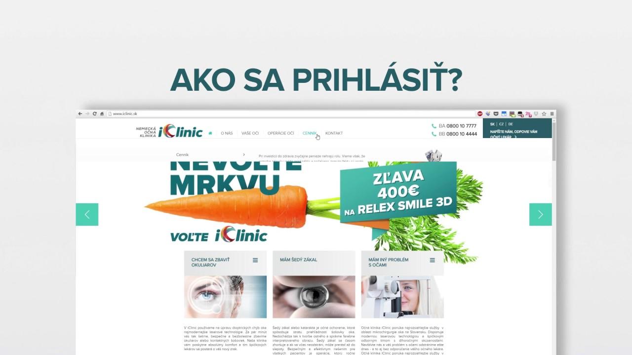 5c74efe05 Cenník - cena operácie očí | iClinic očná klinika Bratislava, Banská  Bystrica