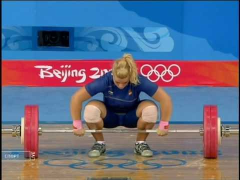 Weightlifting olimpic games 2008 women (75kg) Lidia Valentin(Spain)