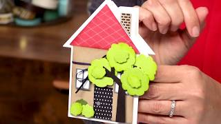 how to create new home cards with stephanie barnard sizzix
