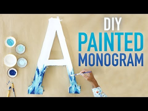 DIY Painted Monogrammed Letter Art - HGTV Handmade