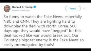 Trump tweets: 'FAKE NEWS' USA's Biggest Enemy (2018)