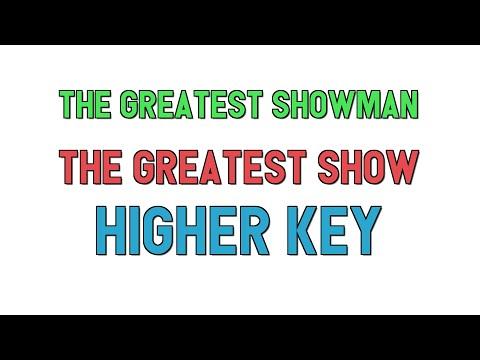 The Greatest Showman (higher key KARAOKE) - The Greatest Show(2 half steps)