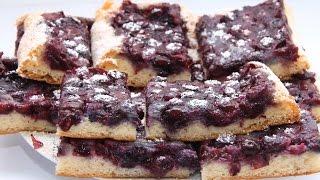 Пирог с черникой - Черничный пирог
