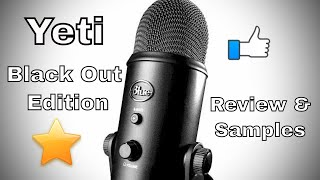 Blue Yeti Blackout - Review and Samples - YouTube USB Microphone