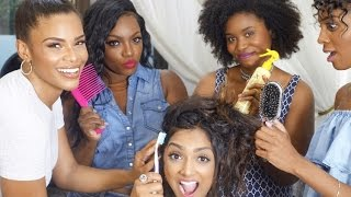 Natural Hair 101 w/ Akilah Hughes, Tiarra Monet, Kamie Crawford, & Malyia Mcnaughton