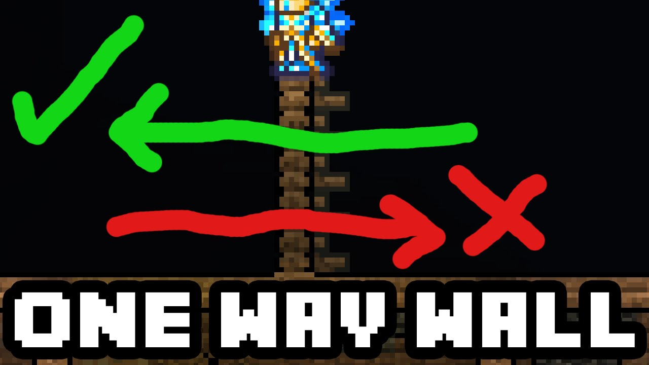 Terraria 1 3 Tricks How To Make One Way Walls In