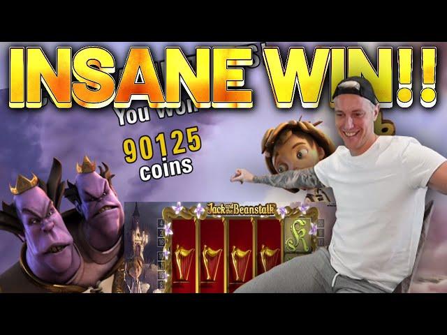 INSANE WIN!!! Jack And The Beanstalk BIG WIN - Casino Games from Casinodaddys live stream
