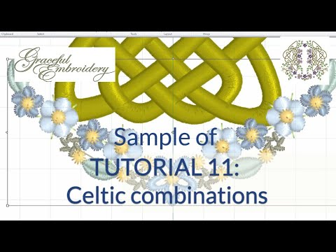 A Sample of Tutorial 11:  Taking Celtic embroidery to a new level