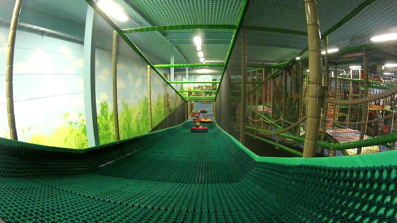 Indoor playground tire slide youtube for Indoor play slide