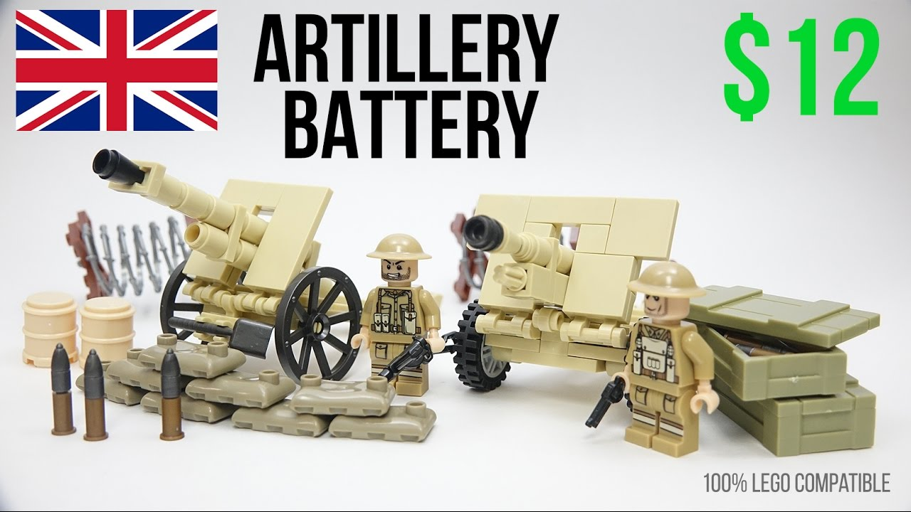 Lego Ww2 British Artillery Battery Moc Africa Lepin