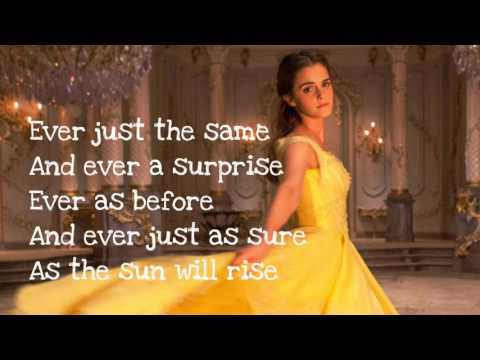 Beauty and the Beast - Lyrics (Ariana Grande & John Legend)