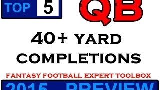 FFET: Top 5 QBs - 40+ Yard Completions (2015 Preview)