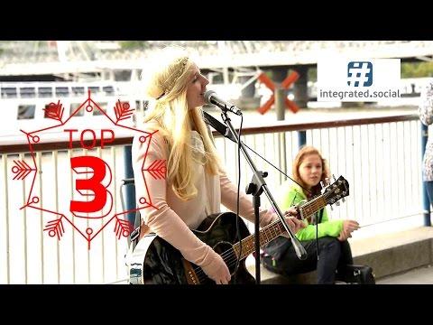 Blown Away Amazing Street Performer Charlotte Campbell original Song Southbank