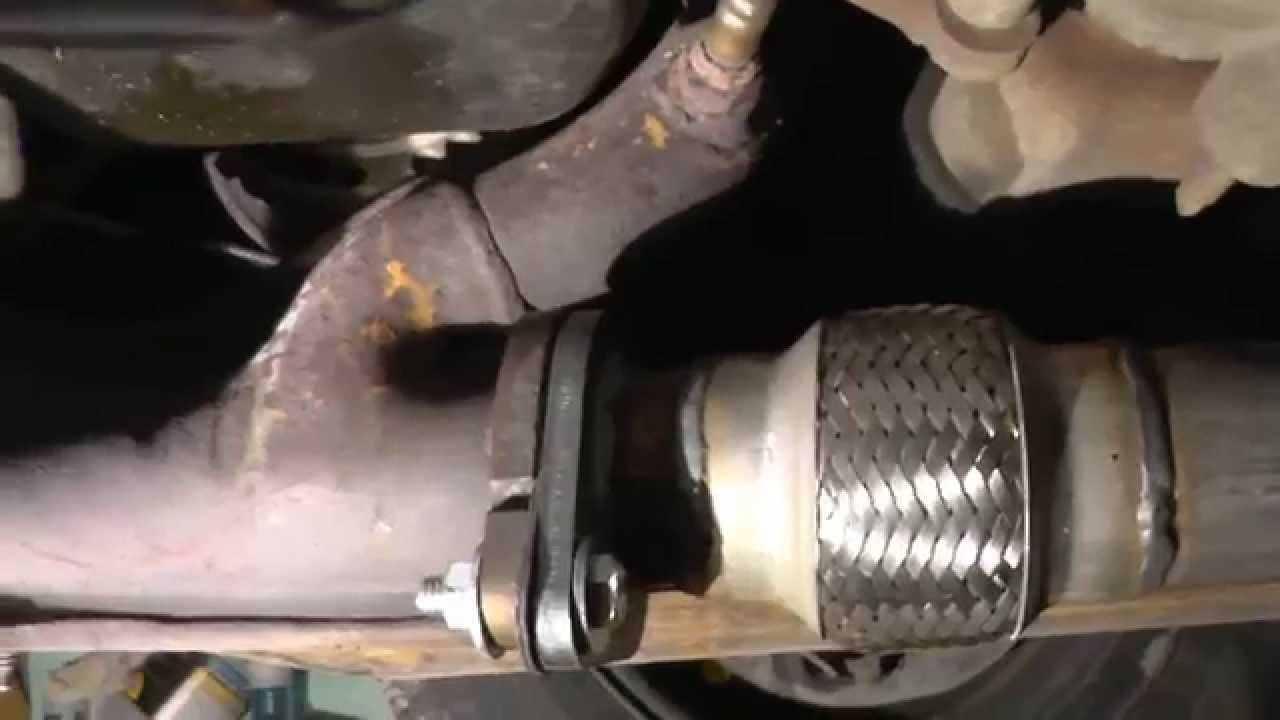 medium resolution of 2000 2007 ford taurus flex pipe catalytic converter replacement youtube