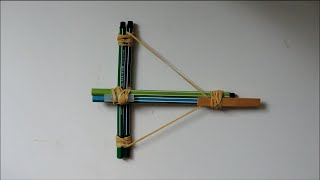 How To Make A Crossbow From Office Supplies. (full Hd)