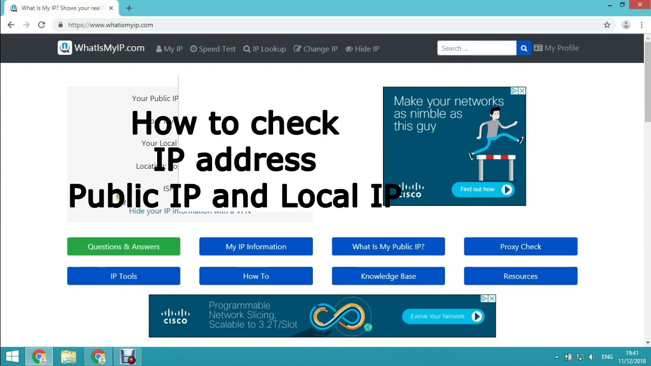 Check public ip address online