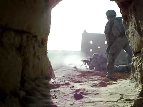 US Army in Afghanistan engage Insurgents. Very intense footage.
