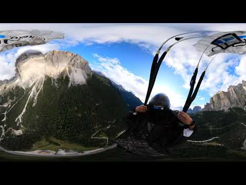 VR 360 GoPro Fusion MAX Italy wing suit flight