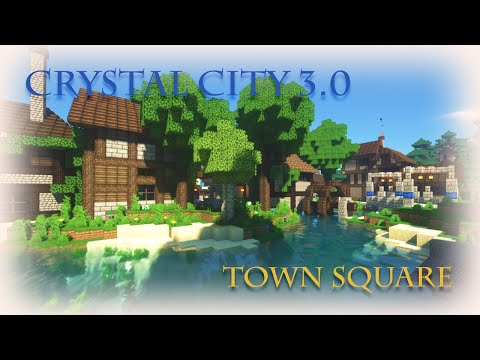 {Crystal City 3.0} Town Square - Minecraft Epic Build |