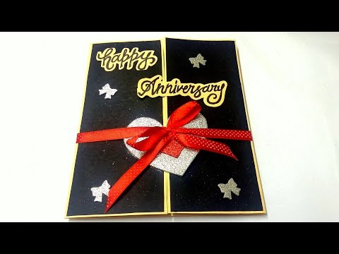 A Beautiful Anniversary card idea | How to make anniversary card at home | complete tutorial