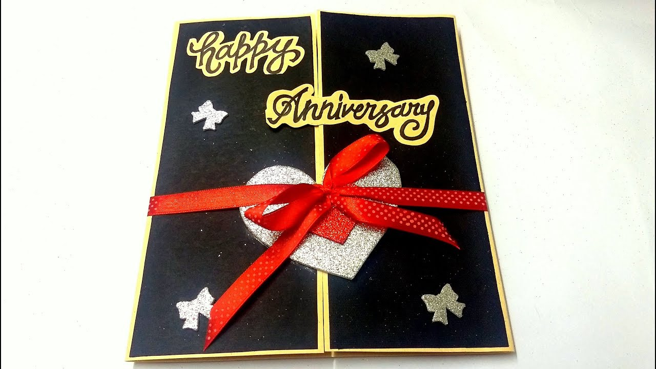 A Beautiful Anniversary Card Idea How To Make Anniversary Card At