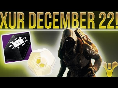 Destiny 2 Xur Location/Inventory 12-22-2017. (Holiday Update, My New Sword, Video Schedule & More!)