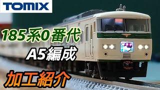 【鉄道模型】TOMIX 185系0番代 A5編成 加工紹介【Nゲージ】