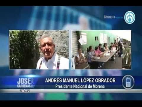 LOPEZ OBRADOR EXPLOTA CONTRA PEPE CARDENAS ENTREVISTA RADIO FORMULA