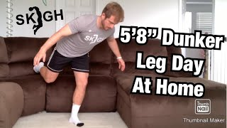 "5'8"" Dunker Workout Jump Higher At Home [NO EQUIPMENT]"