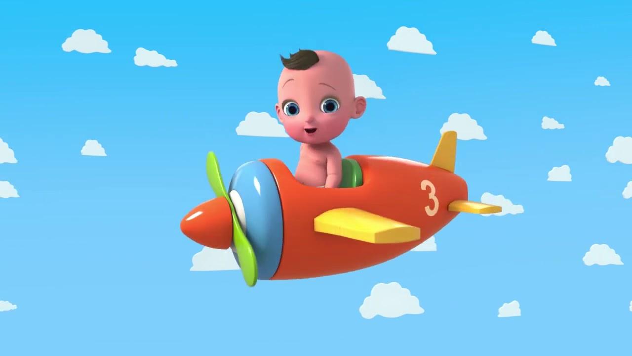 Ну-Ну - 10 маленьких ✈️самолетиков - песенки для малышей Nu-Nu 10 Little Airplanes