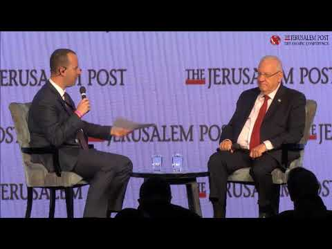 President Reuven Rivlin interviewed by Yaakov Katz at Jerusalem Post's 2017 Diplomatic Conference