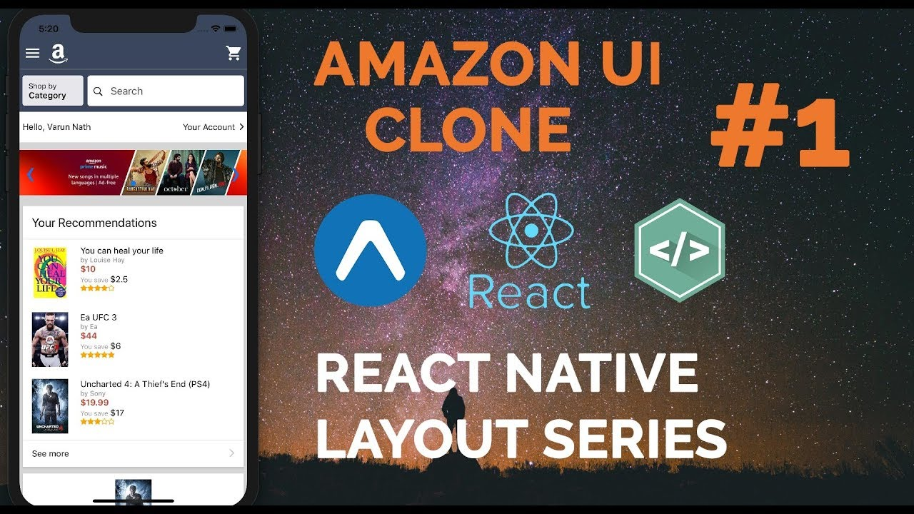 Tutorial: Amazon App UI Clone - Exposition