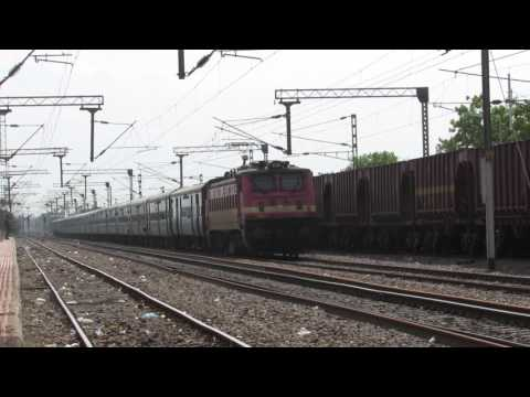 12949 PBR-SRC Kaviguru Expree crossing SZB with ET WAP-4 in lead