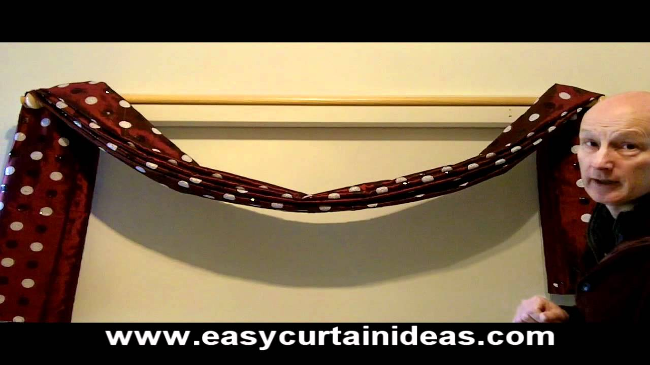 How To Make And Hang A Scarf Swag Easy Curtain Ideas